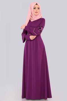 ELBİSE Etamin Nakışlı Elbise 537L263 Şarabi