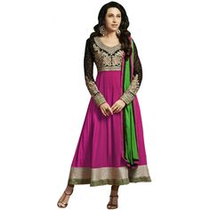 World's Most Selling Black Pink  Embroidary Attractive Salvar Suit