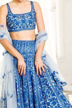 Cotton Lehenga, Floral Lehenga, Green Lehenga, Bridal Lehenga, Lehenga Choli, Sarees, Indian Fashion Dresses, Indian Fashion Trends, Ethnic Fashion