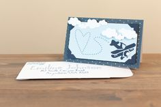 Airplane Card. Make It Now in Cricut Design Space
