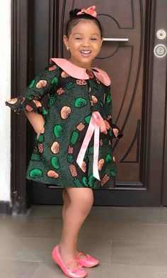 15 Super Belle Ankara Styles For Kids - AfroCosmopolitan Source by SwitdDee dress for kids Baby African Clothes, African Dresses For Kids, Latest African Fashion Dresses, African Dresses For Women, Dresses Kids Girl, African Print Fashion, Girls, Ankara Styles For Kids, Ankara Dress Styles