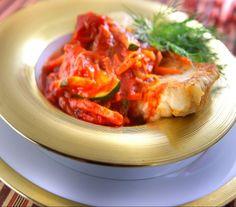 Ryba po grecku - Przepisy. Ryba po grecku to przepis, którego autorem jest: Magda Gessler Bruschetta, Poland, Seafood, Cabbage, Fish, Dinner, Vegetables, Cooking, Ethnic Recipes