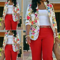 African Ankara jacket styles for the ladies - DarlingNaija African Print Dresses, African Print Fashion, African Fashion Dresses, African Dress, Casual Work Outfits, Chic Outfits, Fashion Outfits, Corporate Attire, Business Casual Attire