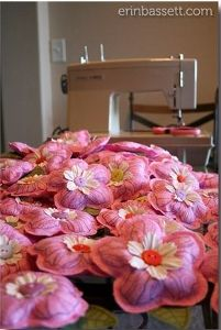 Fabric Flower Garden