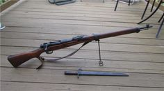 Arisaka Type 99 Japanese bolt-action rifle from World War II. It has a simplified folding wire monopod, though sometimes missing on many rifles. One of the more peculiar traits of this rifle is the anti-aircraft sights. It's a bit difficult to imagine using a bolt-action rifle in an attempt to shoot down a plane but even the Soviets appear to have had the same idea; the Mosin Nagant 91/30 and AVT-40 (select-fire SVT-40) were considered in anti-aircraft roles. (GRH)