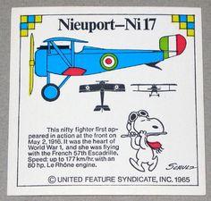 Snoopy and Nieuport-Ni17 WWI Airplane