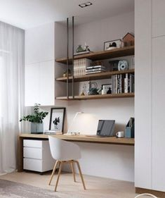 Interior design Trends Office, The Best Home Office Design Ideas For Inspira. Interior design Trends Office, The Best Home Office Design Ideas For Inspiration Interior Design Trends, Scandinavian Interior Design, Minimalist Scandinavian, Minimalist Decor, Design Ideas, Interior Ideas, Book Design, Scandinavian Shelves, Industrial Scandinavian