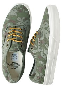 Authentic CA Floral Green Olive Night