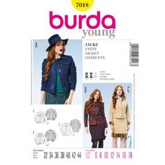 B7018 - Coats & Jackets - Burda Patterns