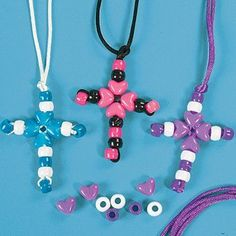 Kids will love creating and wearing their own inspirational jewelry! A fun activity for Sunday School, Vacation Bible School . Vbs Crafts, Church Crafts, Camping Crafts, Stick Crafts, July Crafts, Summer Crafts, Bible School Crafts, Sunday School Crafts, Bible Crafts For Kids