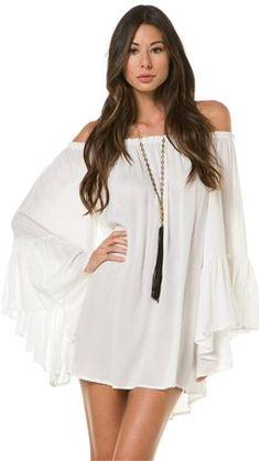 May be a tad short for me but totally diggin this dress! Indah Kamani Ruffle Edge Mini Dress