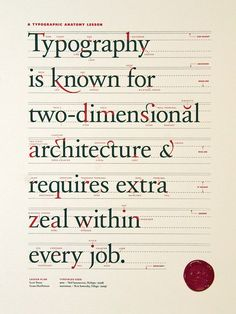 beautiful typography infographic, or just a nice poster.