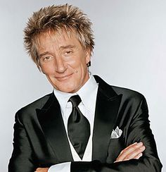 Rod Stewart...Love his haircut...that's why mine is cut just like his!!! (thanks, Erica)