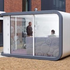 Office Pod | Working Environments Furniture - Great external pods, ideal for maximising use of outside spaces, particularly where planning may be an issue. Can be used at at schools, colleges,  Universities, office atriums, stately homes admin areas, home offices and wherever you need to create an in door space, outdoors! Office Pods, Types Of Rooms, Commercial Furniture, Atrium, Colleges, The Office, Offices, Schools, Storage Chest