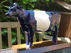 handgeschilderde aardewerk Lakenvelder koe door Schoonhoven Keramiek vervaardigd