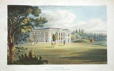 1828 Antique Small Georgian Print ~ Eaton Hall ~ Cheshire Art Prints