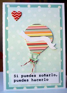 hot balloon air card