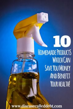 Would you like to live a more natural lifestyle? In this post, I've described 10 homemade products which will benefit your health and save you money too.