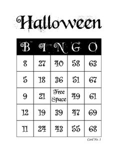 Halloween Bingo Cards, 1000 cards, 1 per page, immediate pdf download Bingo Card Maker, Halloween Bingo Cards, Custom Bingo Cards, Bingo Calls, Bingo Patterns, Email Programs, I Am Game, I Party, Print And Cut