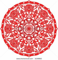 lotus paper cutting | Chinese Paper Cut Design Of Chinese Lotus Pattern Stock Vector 3238860 ...