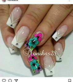 Hot Nails, Summer Nails, Manicure, Finger, Nail Designs, Lily, Nail Art, How To Make, Beauty