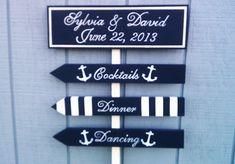 Decoration Inspiration: Nautical Wedding Sign