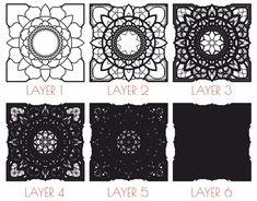- Multilayer Mandala DXF file, Laser Cut DXF Mandala, Wall Art Multilayer Mandala Svg file, Mandala Laser Cut template, Mandala for CNC 3d Templates, Drawing Templates, Lotus Flower Mandala, Thing 1, Scroll Saw Patterns, Bird Drawings, Mandala Pattern, Pattern Drawing, Psychedelic Art