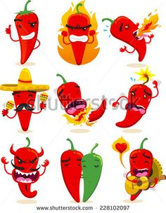 Stock Images similar to ID 161658236 - red hot chili pepper with devil'...