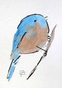 Watercolor Birds by Richard McKey