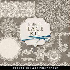 Far Far Hill: New Freebies Lace Kit