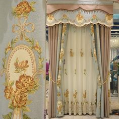Vintage Multi Color Polyester Embroidery Custom Living Room Curtains (No Valance. Target Home Decor, Fall Home Decor, Cheap Home Decor, Living Room Decor Curtains, Home Decor Bedroom, Velvet Curtains, Drapes Curtains, Drapery, Decoupage