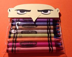 Despicable Me Party- Crayon Favors