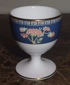WEDGWOOD BLUE SIAM EGG CUP #Wedgwood