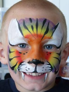 Face painting for kids: tiger - big cat