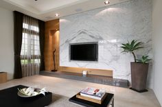 modern fireplace and tv ideas - Google Search