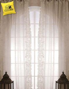 Le stupende Tende shabby chic della Blanc Mariclo realizzate in misto lino cotone 140 x 290 cm in colore marrone