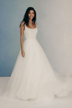 Marilyn by Allure Bridals shows off a bodice of pearls and shimmering beads to pair with a lux soft tulle skirt Pageant Dresses, Modest Dresses, Homecoming Dresses, Bridesmaid Dresses, Girls Dresses, Flower Girl Dresses, Bridal And Formal, Allure Couture, Bridal Show
