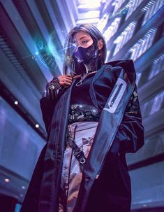 cyberpunk art RECLAIMER by Chad Walker Were funded, but Kickstarter United needs a signal boost Kickstarter Moda Cyberpunk, Arte Cyberpunk, Cyberpunk Tattoo, Cyberpunk Aesthetic, Cyberpunk Girl, Cyberpunk Fashion, Cyberpunk 2077, Fashion Goth, Cyborg Tattoo