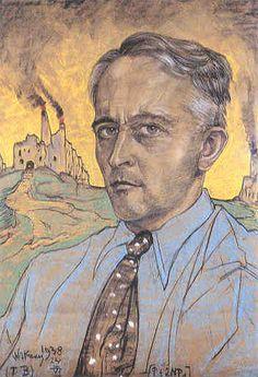 "Self-portrait, 1938 ~ Stanisław Ignacy Witkiewicz (1885-1939) commonly known as ""Witkacy"", was a Polish poet, playwright, novelist, painter, photographer and philosopher."