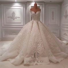 """3,325 Likes, 123 Comments - Jacykayofficial (@jacykayofficial) on Instagram: """"A Shinning Wedding Dress that made you look like a Queen... #jacykay #jacykayofficial #hautecouture…"""""""