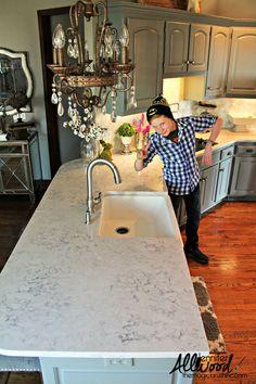 lowered kitchen Silestone countertops #SilestoneKitchen #Silestone