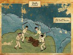 Este artista recrea escenas míticas del cine como si fuera arte del imperio otomano