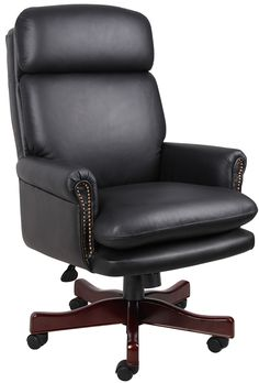 Office Furniture Chairs whiteline napoleon executive high back office chair – modish store