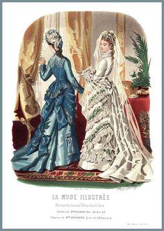 La Mode Illustrée. Anaïs Toudouze. Vers 1879