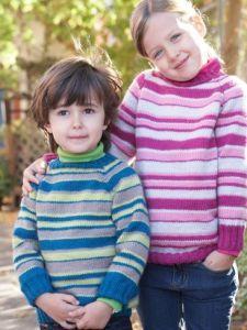 Kids Top-Down Striped Sweater