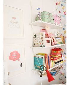 Shelves for boys room Big Girl Bedrooms, Kids Bedroom, Ikea Ekby, Creative Kids Rooms, Shelving Design, Kid Spaces, Girl Room, Baby Room, Baby Decor