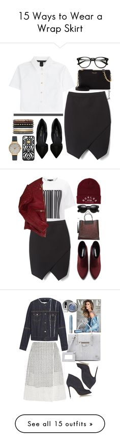 """""""15 Ways to Wear a Wrap Skirt"""" by polyvore-editorial on Polyvore"""