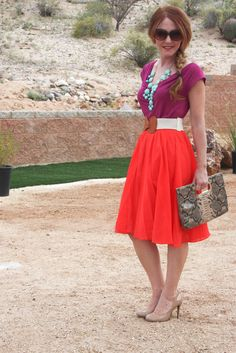 Delusions of Grandeur: J Crew bubble necklace and Jardin skirt