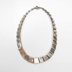 vintage 1960s 70s sterling necklace by Bent Knudsen of Denmark
