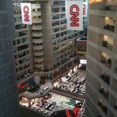 view of the CNN headquarters #atlanta
